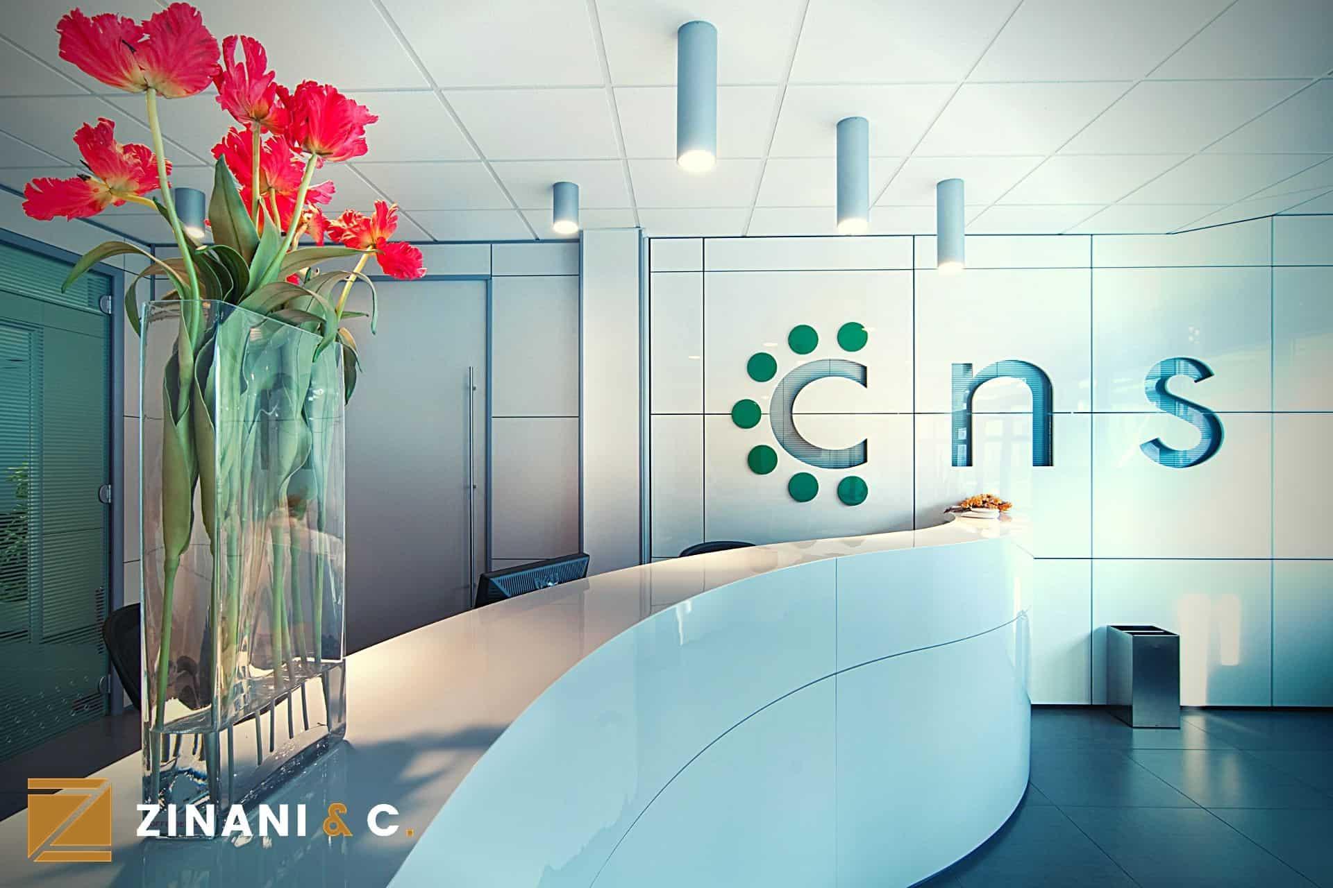 Ufficio direzionale del CNS: luce, curve ed eleganza